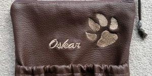 3CARIS-Taschen - Gassi-geh-Tasche mit Pfote und Namen