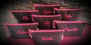 CARIS Naehwerkstatt, MiniBags anthrazit pink