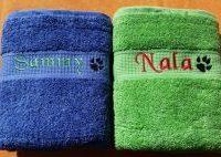 CARIS-Taschen - Hunde-Handtuch mit Namen und Pfote