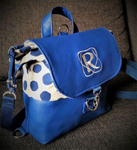 CARIS Naehwerkstatt, Handtaschenrucksack blau 2 - CARIS - Taschen
