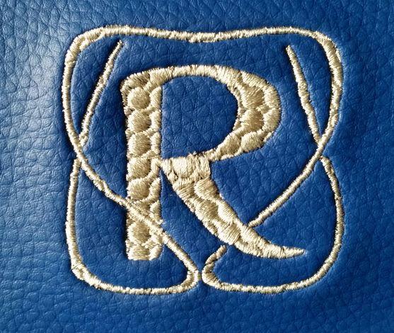 CARIS Naehwerkstatt, Handtaschenrucksack blau Monogramm - CARIS ...
