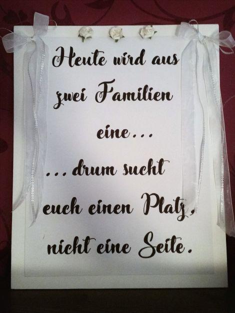 CARIS Naehwerkstatt - Hochzeit - Handlettering Schild