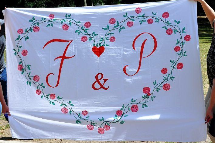 CARIS Nähwerkstatt - Hochzeit - Bettlaken Herz