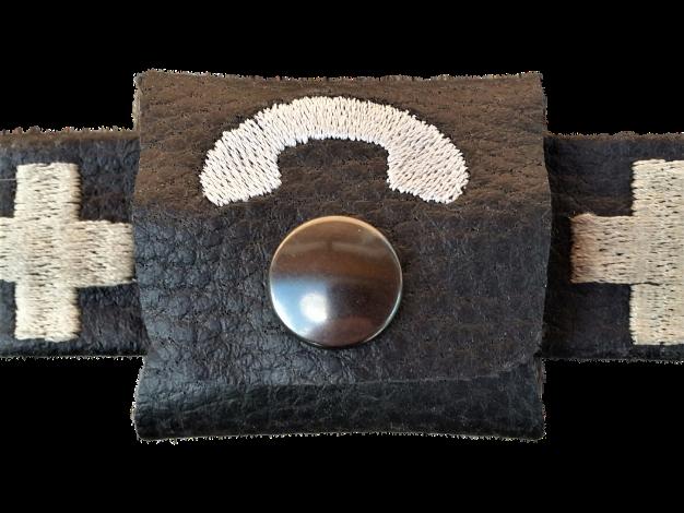 CARIS Nähwerkstatt - Hundehalsbandtasche mit Stickerei