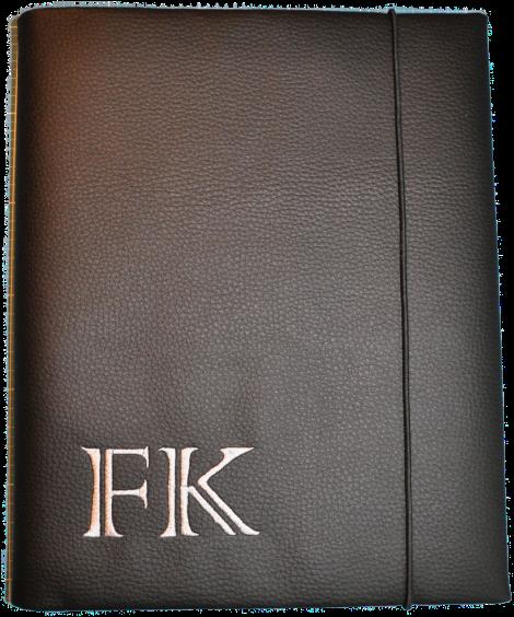 CARIS Nähwerkstatt - Block-Hülle A4 mit Initialen