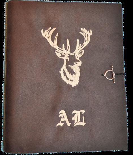 CARIS Nähwerkstatt - Block-Hülle A4 mit individueller Stickerei