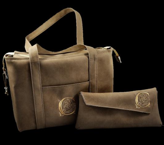 CARIS Taschen - individuelle Handtasche mit Monogramm und passender Clutch