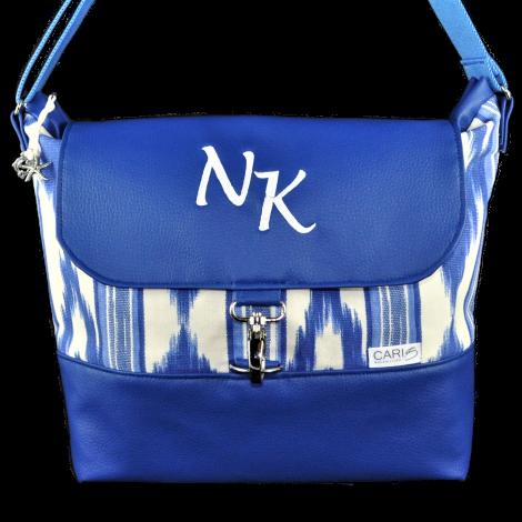 CARIS Taschen - individuelle Handtasche mit Initialen aus Mallorca-Stoff