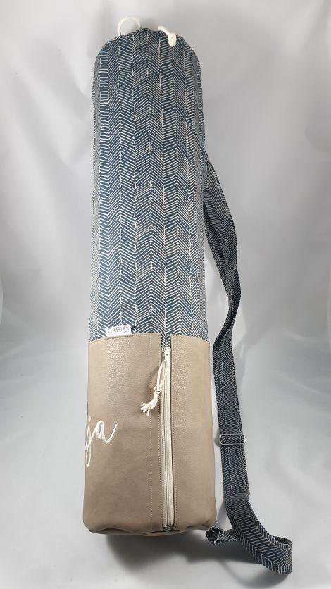 CARIS Nähwerkstatt - personalisierte Yoga-Tasche mit individueller Stickerei