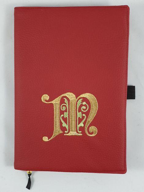 CARIS Nähwerkstatt - personalisierte Notizbuchhülle mit individueller Stickerei